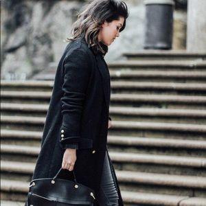 Zara Long Coat Jacket Gold details Trafaluc